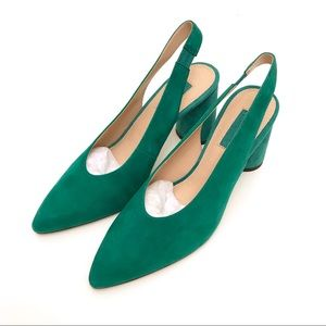 NIB Topshop Green Suede Leather Shoes